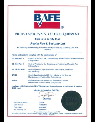Bafe-sp101-certificate