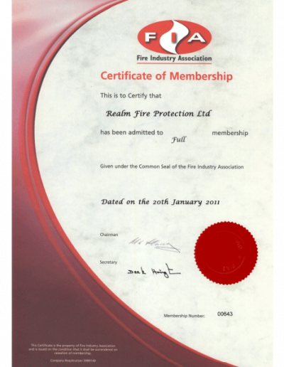 FIA-certificate