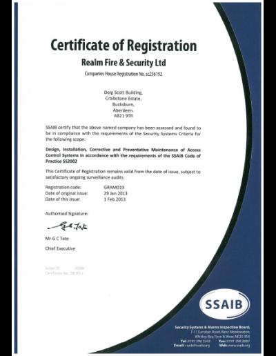 SSAIB-access-control-certificate