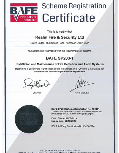 BAFE-Certificate